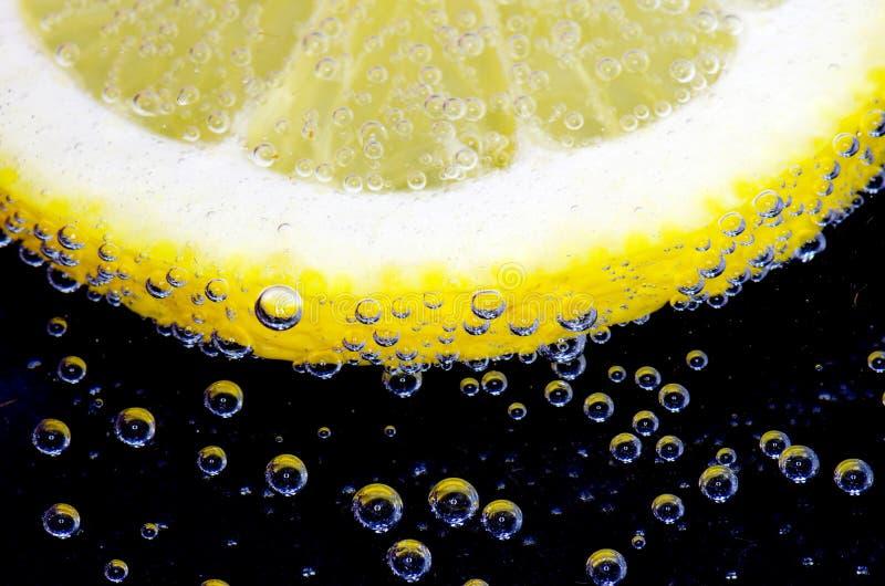 起泡柠檬片式 免版税图库摄影