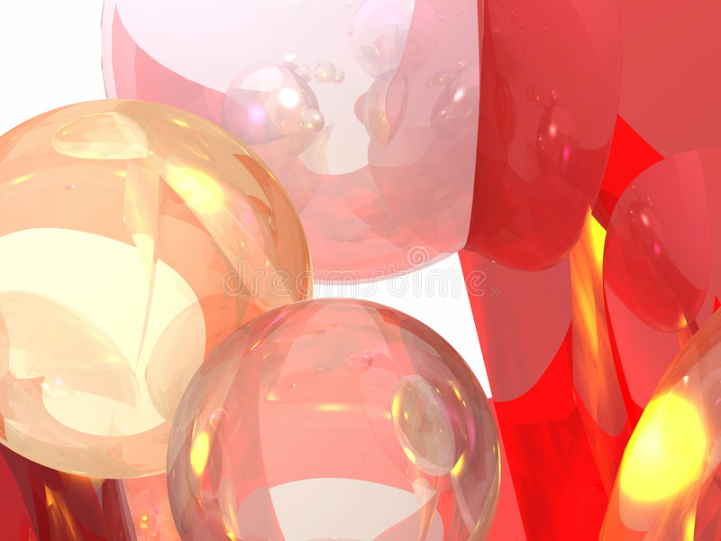 起泡的图象 向量例证