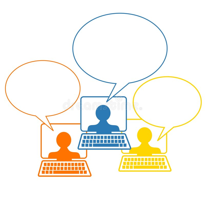 起泡网络连接社会谈话 库存例证