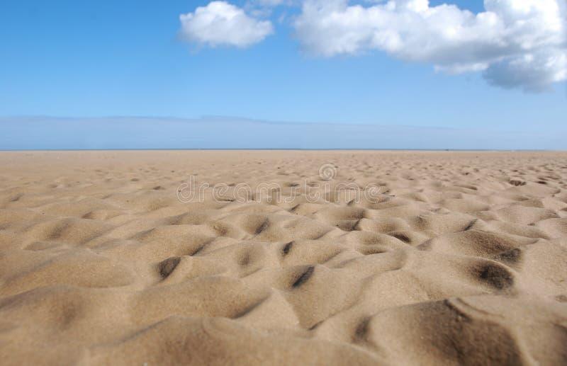 起波纹的沙子 库存图片