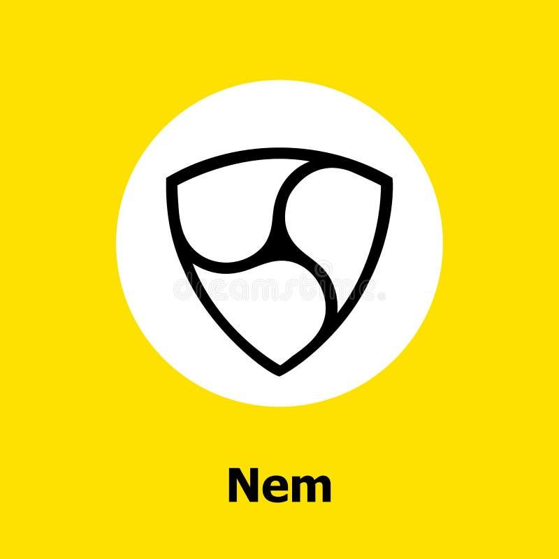 起波纹cryptocurrency blockchain平的象黄色背景 传染媒介波纹标志 库存图片