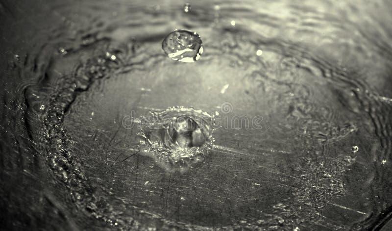 起波纹waterdrops 免版税图库摄影