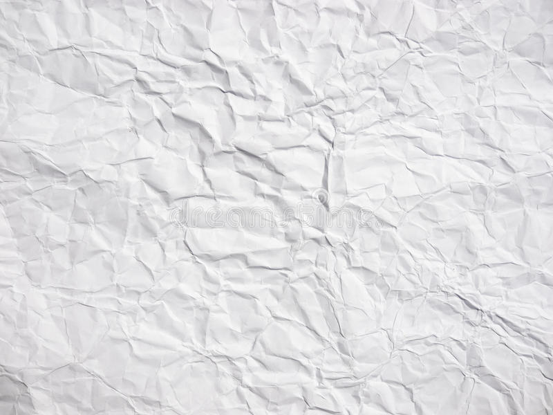 起皱纹的白皮书纹理 库存照片