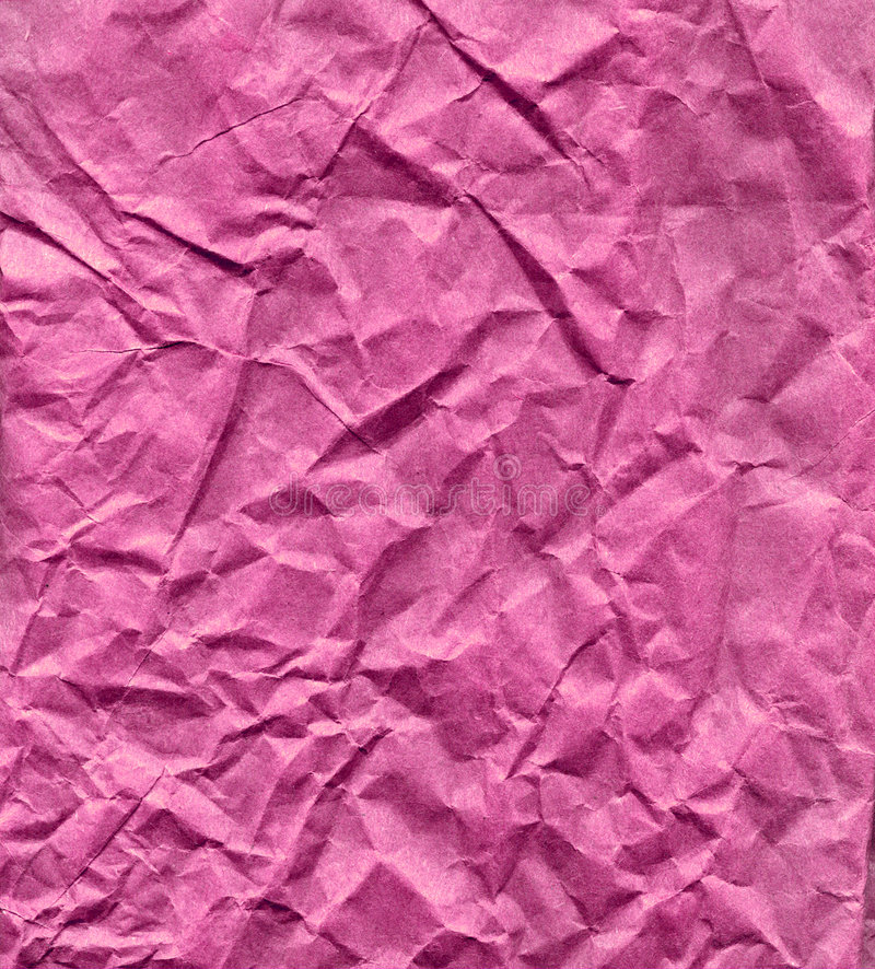 起皱纹的纸粉红色 图库摄影