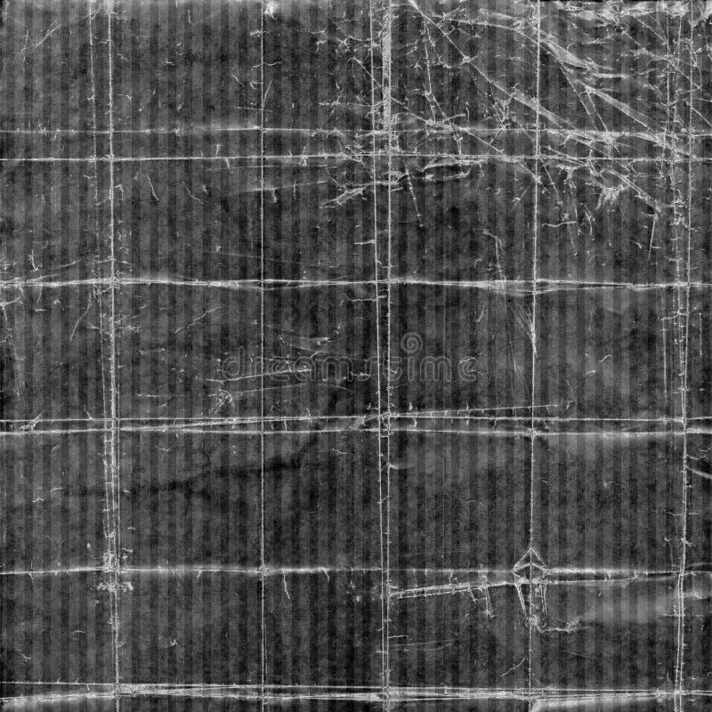 起皱纹的背景灰色脏镶边 向量例证