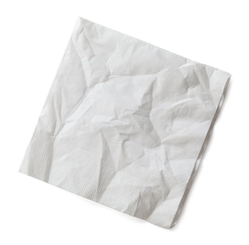 起皱纹的餐巾 免版税图库摄影