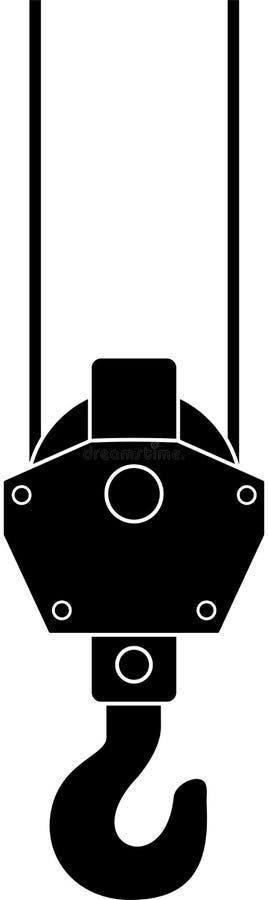 起重机升降机异常分支 库存例证