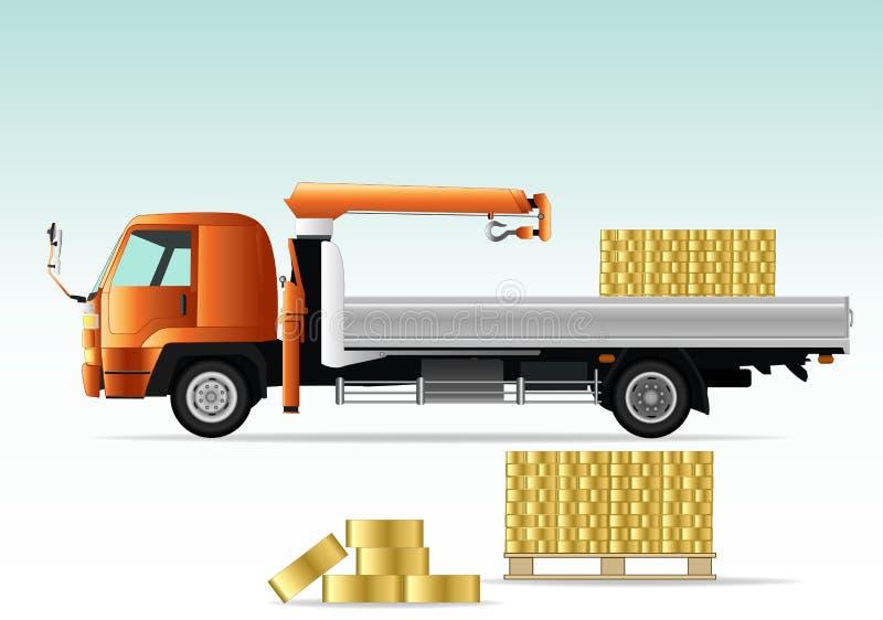 起重机卡车 库存例证