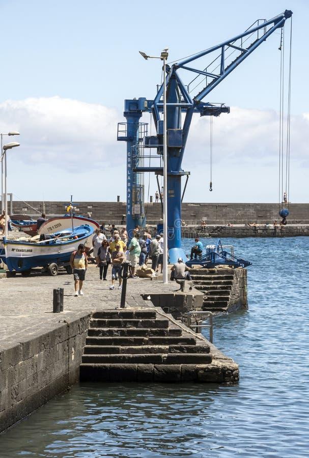 起重机在港口 免版税图库摄影