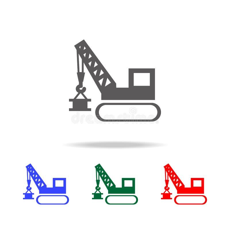 起重机增强 塔和港口起重器象 建筑的元素用工具加工多色的象 优质质量图形设计我 皇族释放例证