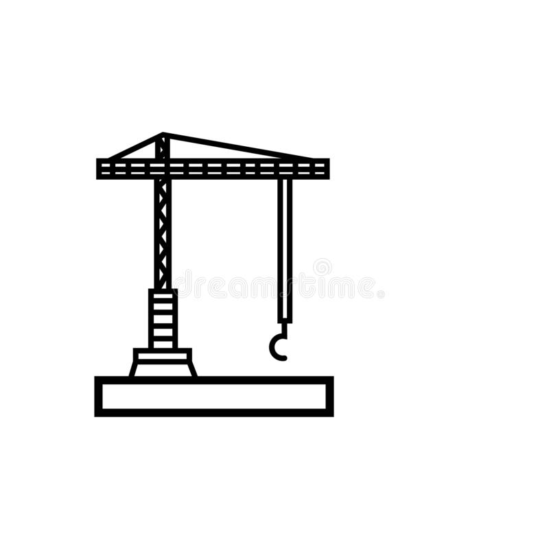 起重机机器象传染媒介标志标志起重机象 皇族释放例证