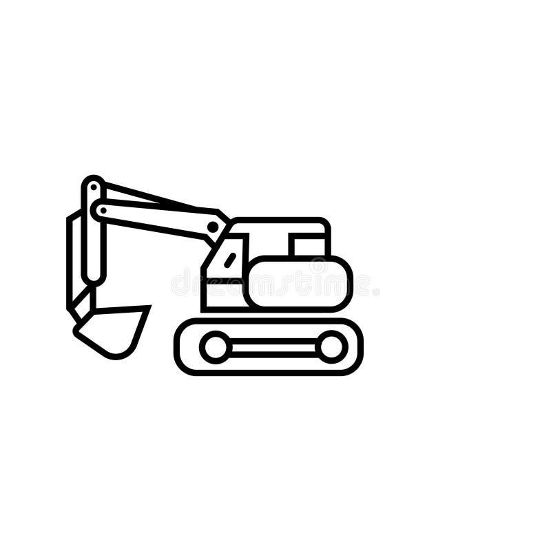 起重机机器象传染媒介标志标志起重机象 库存例证