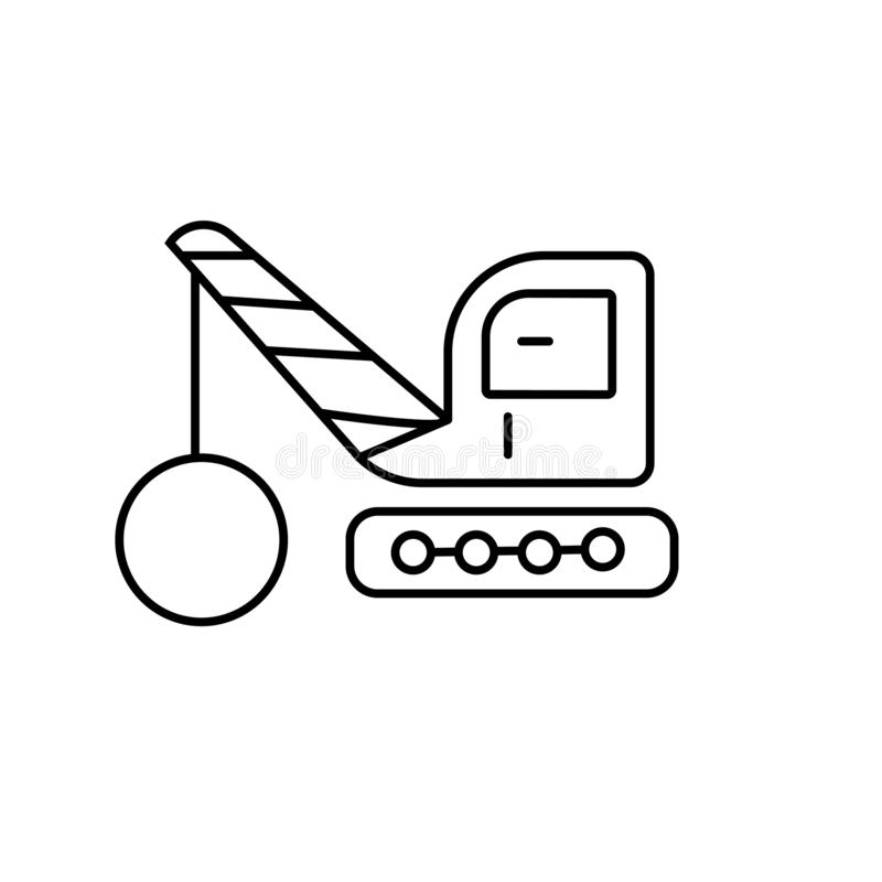 起重机机器象传染媒介标志标志起重机象 向量例证