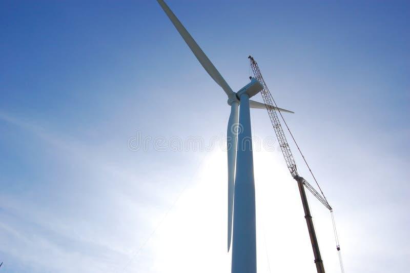 起重机涡轮风 库存照片
