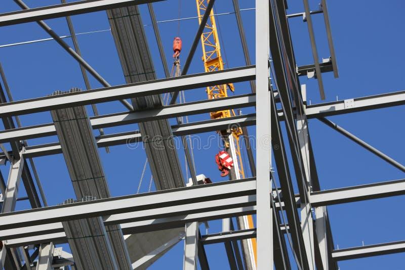 起重机结构上结构的钢 库存图片