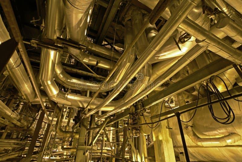 起重机行业用管道输送管 库存照片