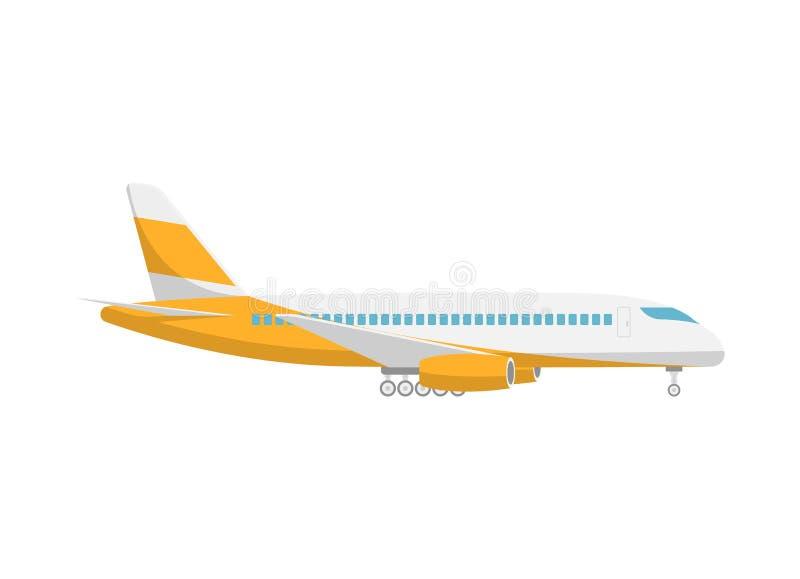 起飞乘客飞机被隔绝的象 向量例证