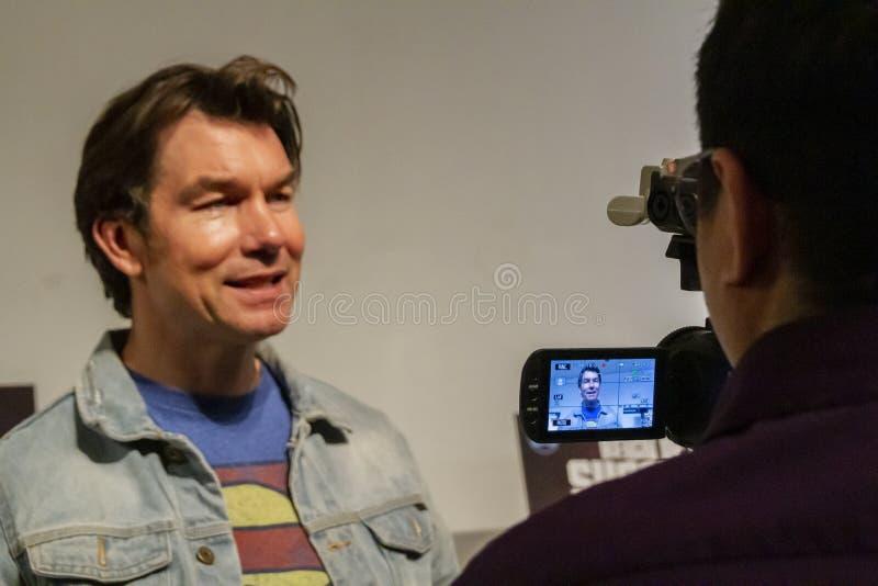 超人王朝首放的杰瑞O'Connell  免版税库存图片