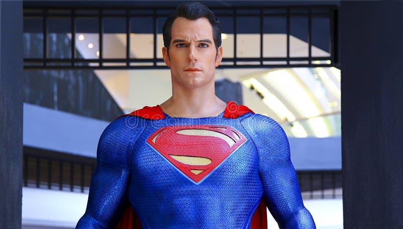 超人雕象 免版税图库摄影