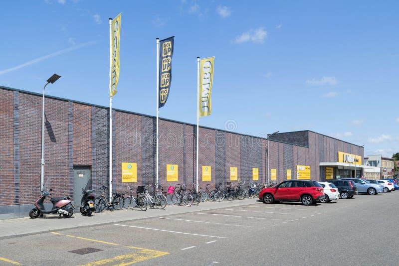 超大超级市场在希勒霍姆,荷兰 免版税库存照片