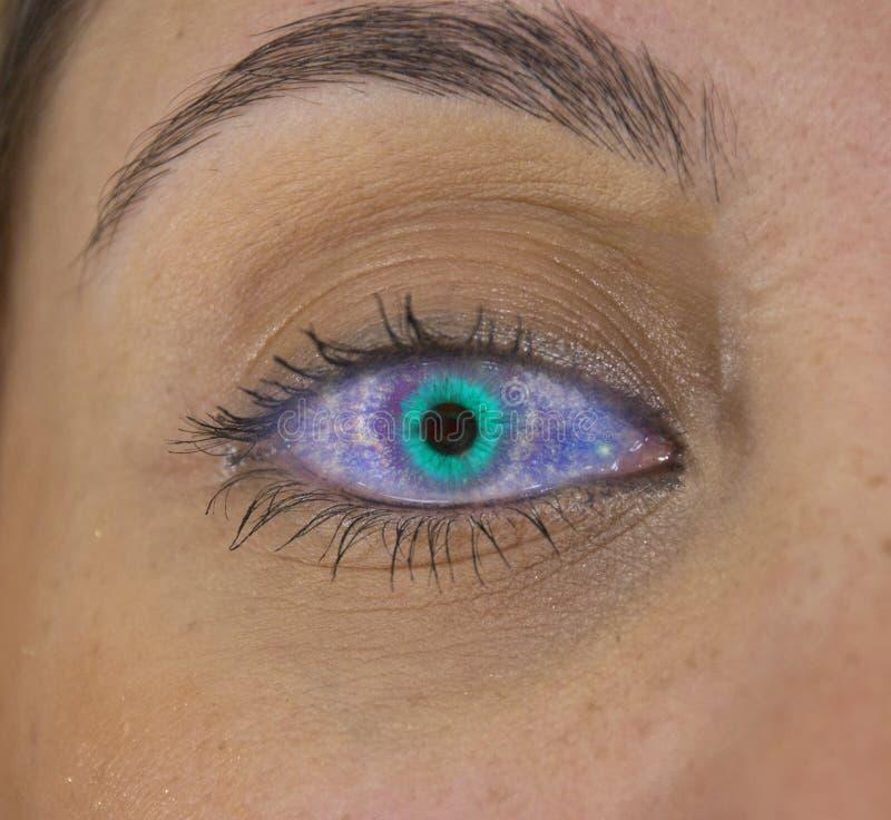 超新星眼睛 库存例证