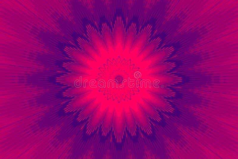 霓虹紫色发光的光芒射线 超淡紫色 皇族释放例证