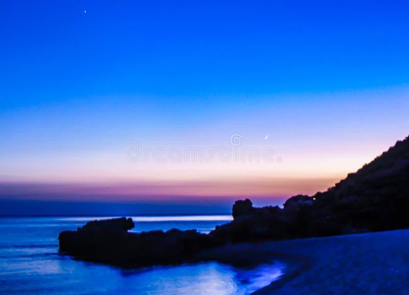 超现实主义的海滩 库存照片