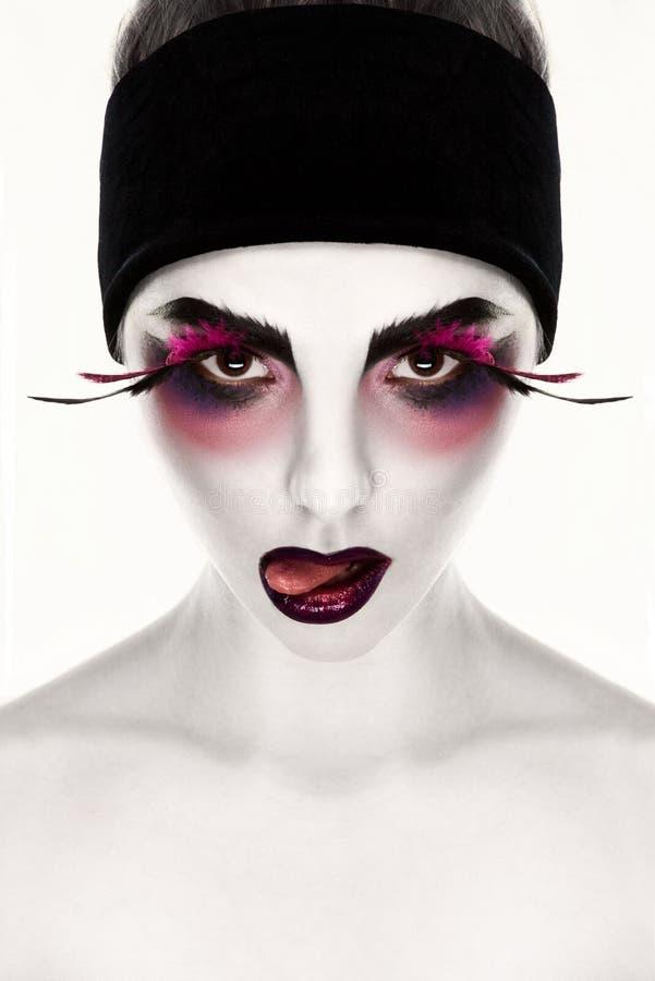 超现实主义的面孔艺术 库存图片