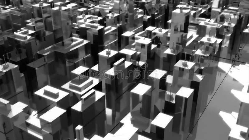 超现实的城市的场面 向量例证