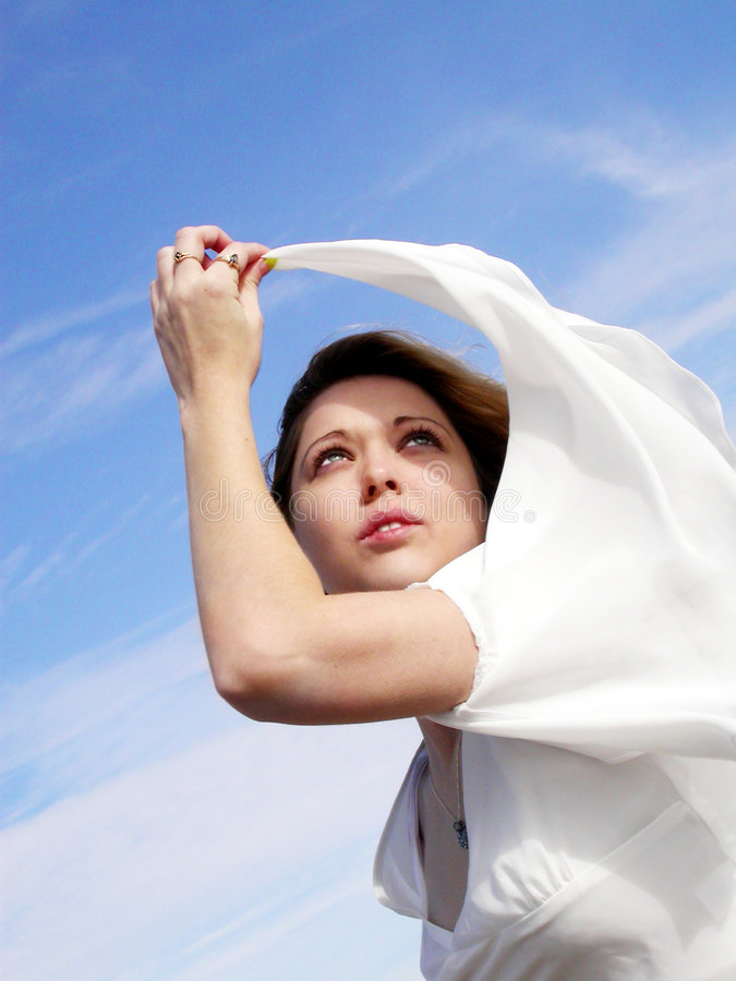 超现实的妇女 免版税库存图片