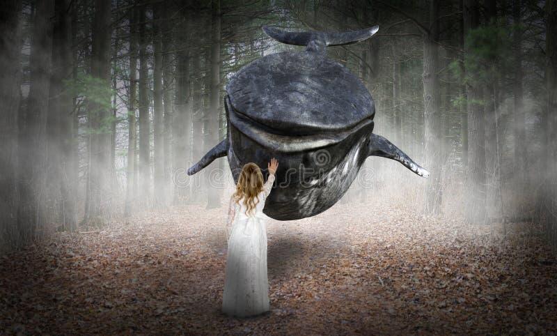 超现实的希望,和平,爱,自然 免版税图库摄影