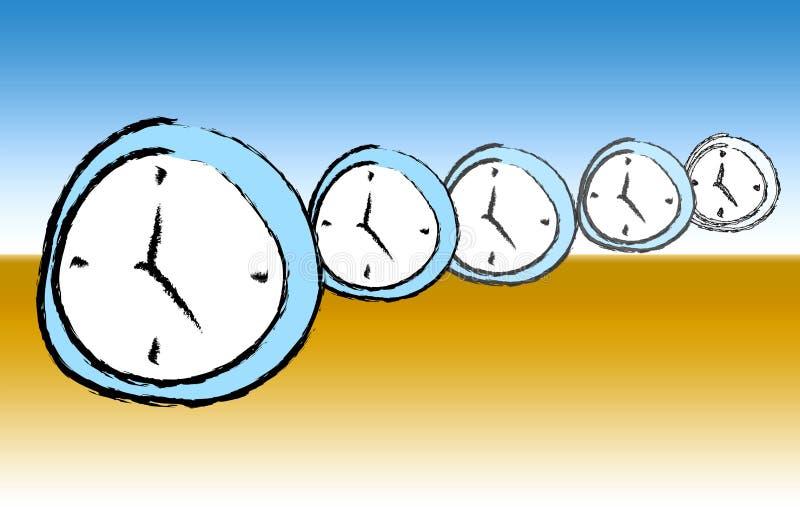 超现实的手表 向量例证