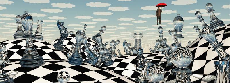 超现实的棋 库存例证