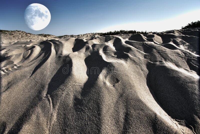 超现实的moonscape 免版税图库摄影