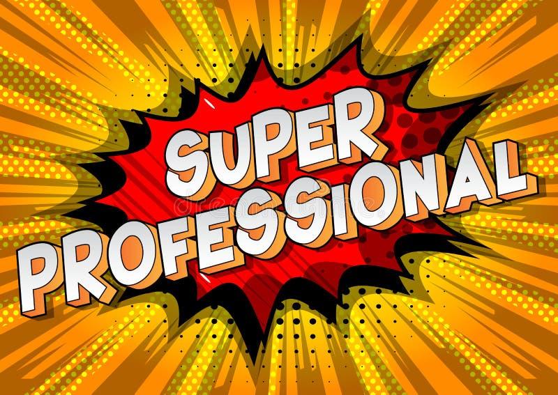 超级专业-漫画样式词 库存例证