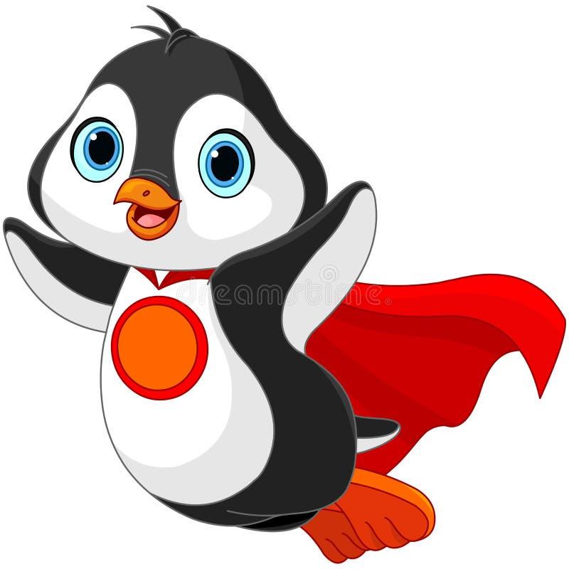 超级企鹅 向量例证