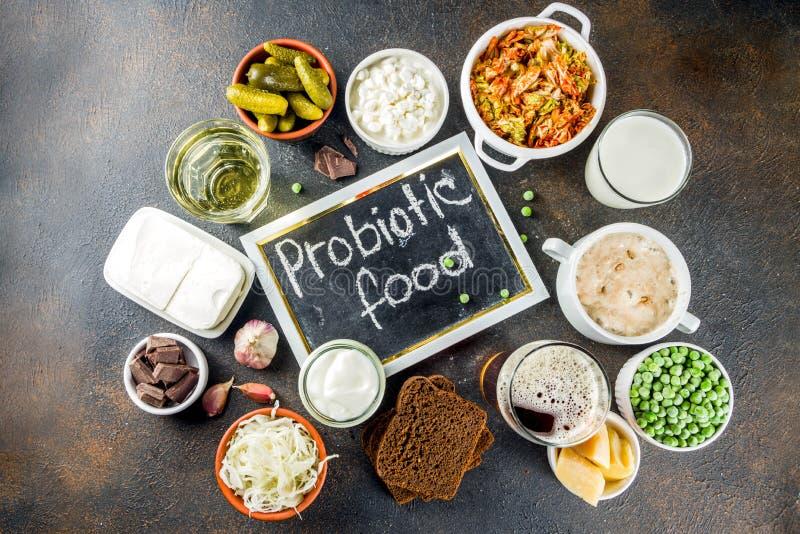超级健康前生命期的被发酵的食物来源 图库摄影
