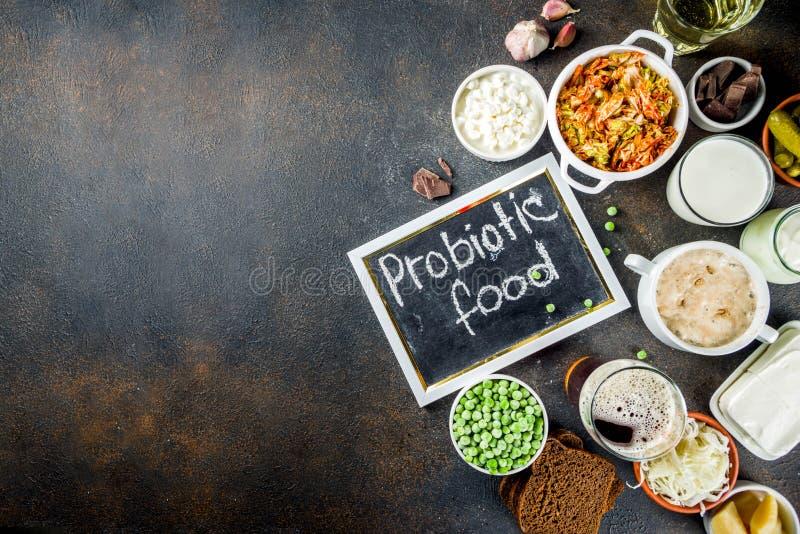 超级健康前生命期的被发酵的食物来源 库存照片