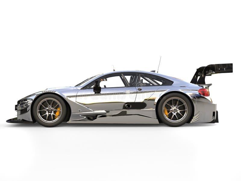 超级反射性金属现代超级种族车的侧视图 皇族释放例证
