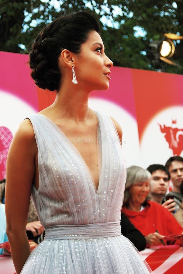 超级名模Ravshana库尔科娃在XXXVI莫斯科国际影片竞赛 库存照片