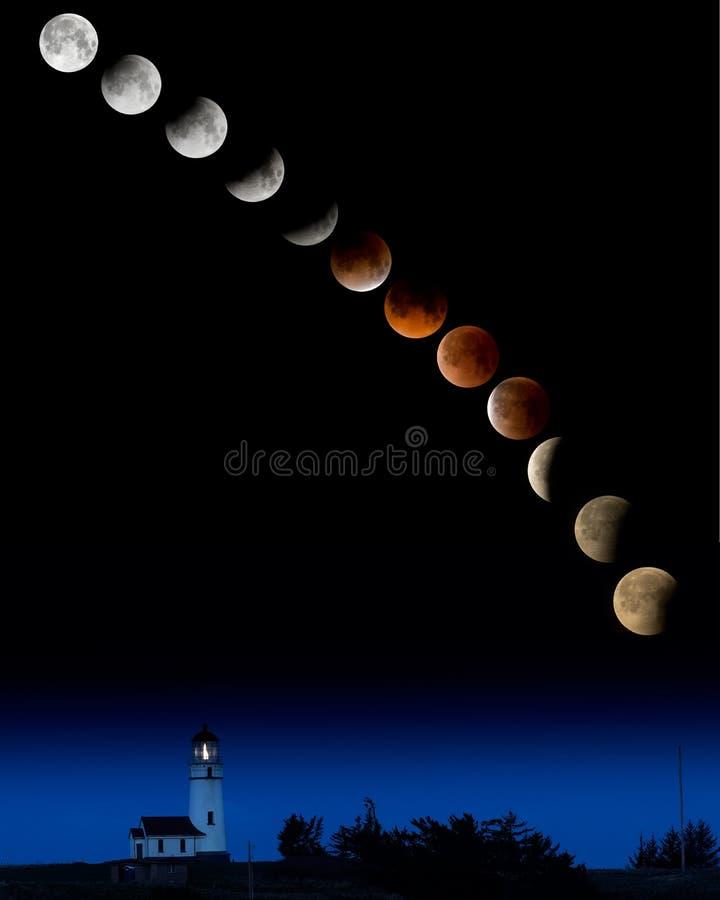 超级名门出身月亮 免版税库存照片
