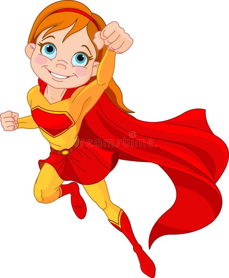 超级女孩 皇族释放例证