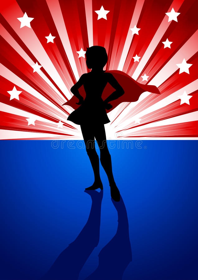 超级女英雄 向量例证