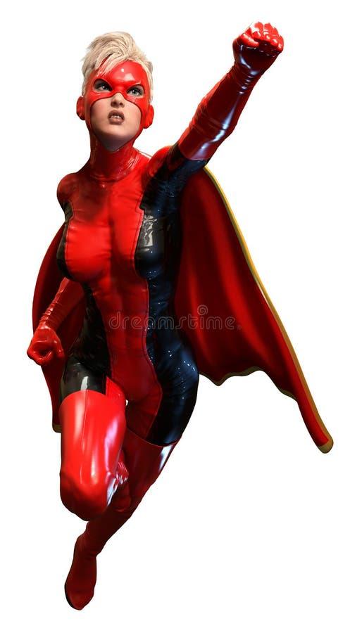 超级女英雄 库存例证