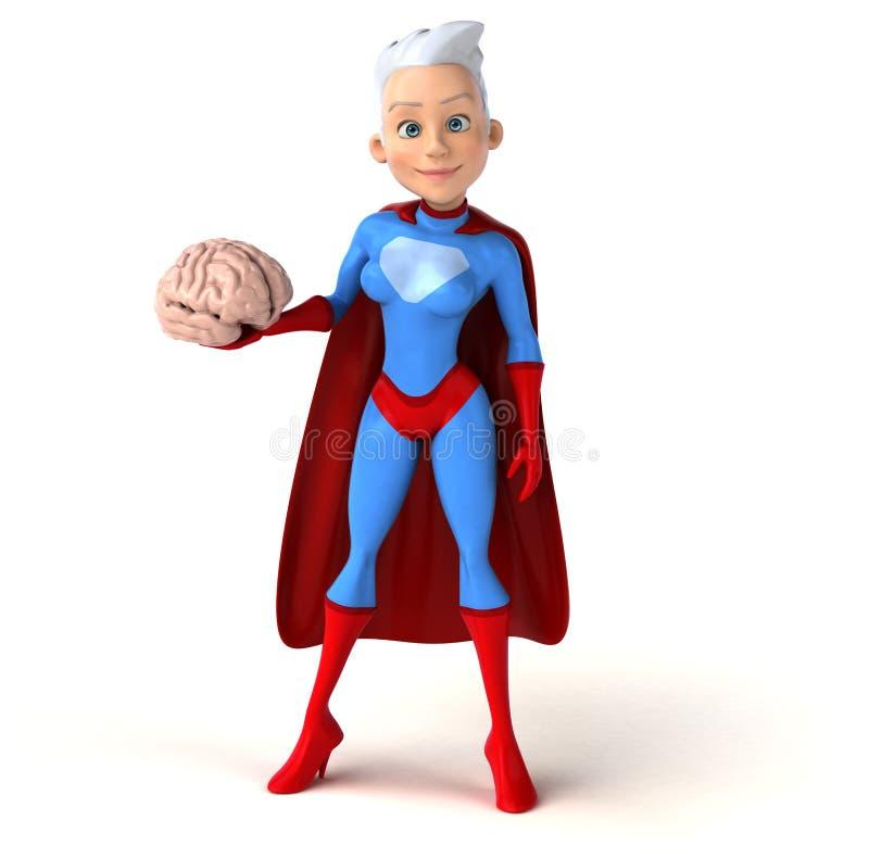 超级妇女 皇族释放例证