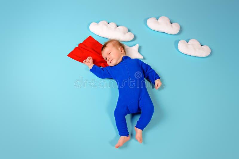 超级孩子 图库摄影