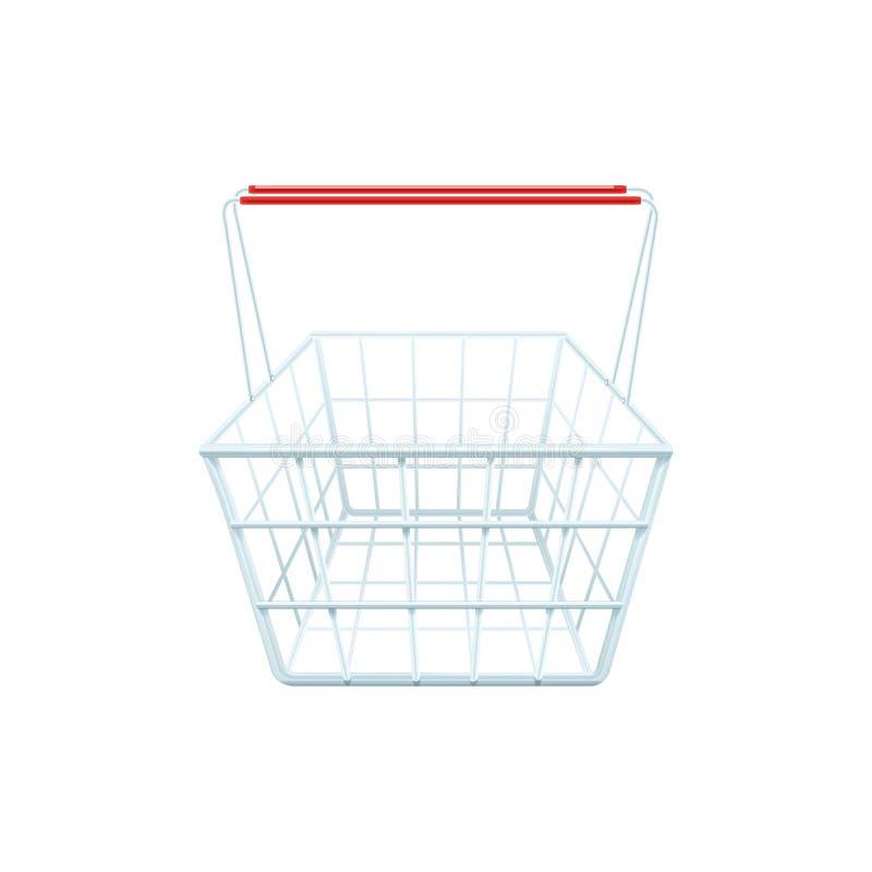 超级市场买菜篮子现实图象 皇族释放例证