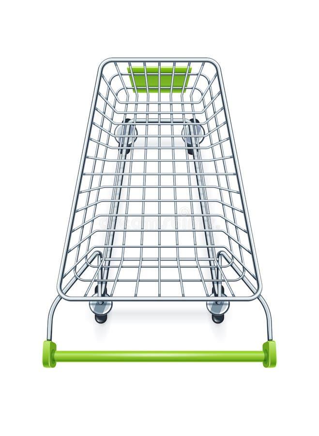 超级市场产品的手推车 库存例证