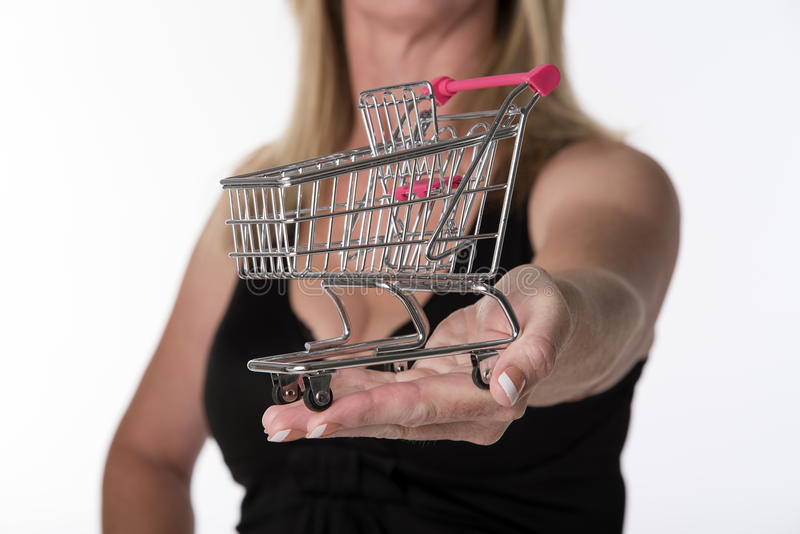 超级市场台车 免版税库存照片