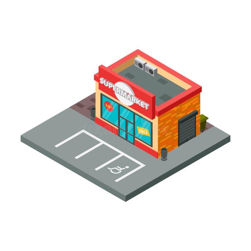 超级市场和商店材料等量传染媒介例证 向量例证